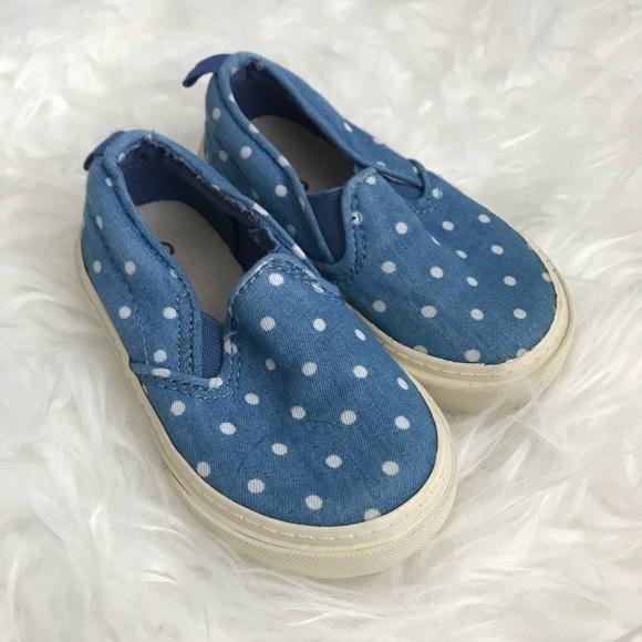 GAP Other - 🌸2/$10 SALE🌸Baby Gap Blue Polka Dot Sneakers-5
